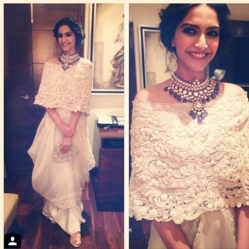 sonam-kapoor-vintage-lace-dress-by-anamika-khanna