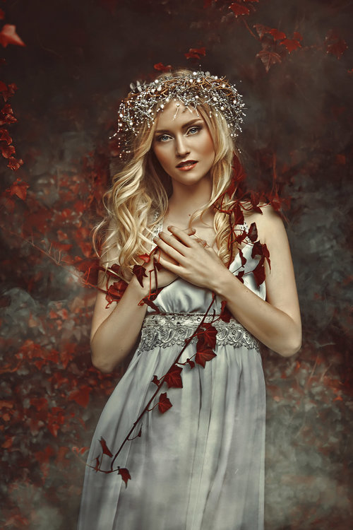 grace-almera-red-red-leaf-silver-silver-headpiece-blonde-scandinavian-mapa-model-management-nature-nature-lover-white-dress-fantasy-fine-art-ethereal-dreamy-daydream.jpg