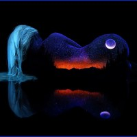 Bodyscapes and black light by John Poppleton